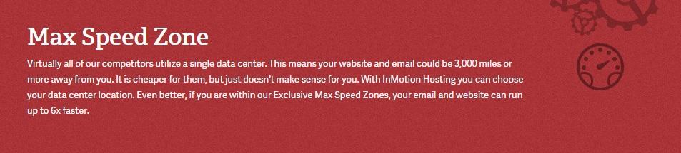 Max speed zone