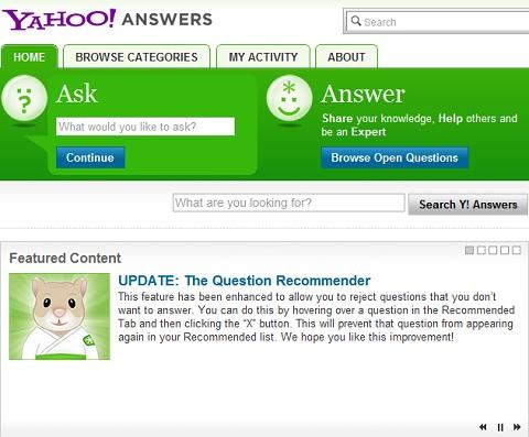 Yahoo Answer