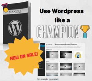 Wordpress video manual promo